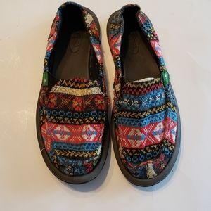 Sanuk Mika Sidewalk Surfers shoes sz 7